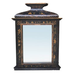 20th Century Chinoiserie Bathroom Mirror and Cabinet with Three Shelves