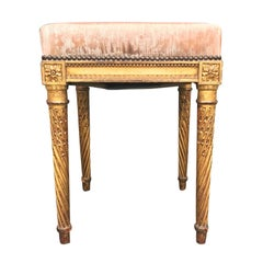 Fine Late 19th-Early 20th Century Louis XVI Style Giltwood Bench