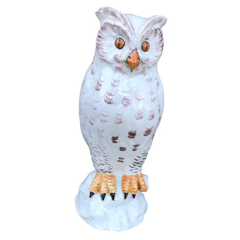 20th Century Italian Ceramic Owl