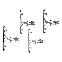 Set of Four 1920s Iron Sconces