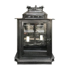 20th Century Regency Style Black Tole Lantern