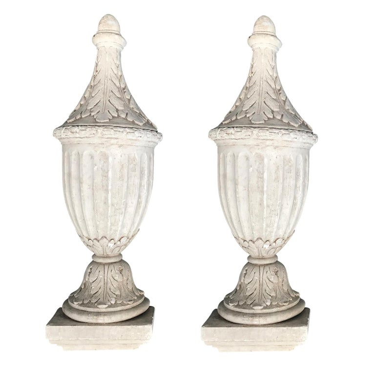 Pair of 20th Century Neoclassical Wall Urns