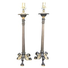 Pair of 19th Century Empire Candlesticks as Lamps