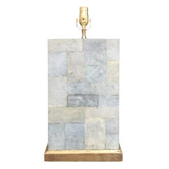 20th Century Large Shagreen Lamp in the Style of Karl Springer