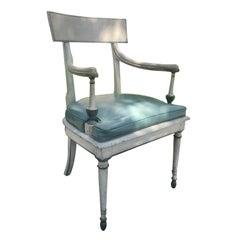 19th Century Italian Directoire Painted Armchair