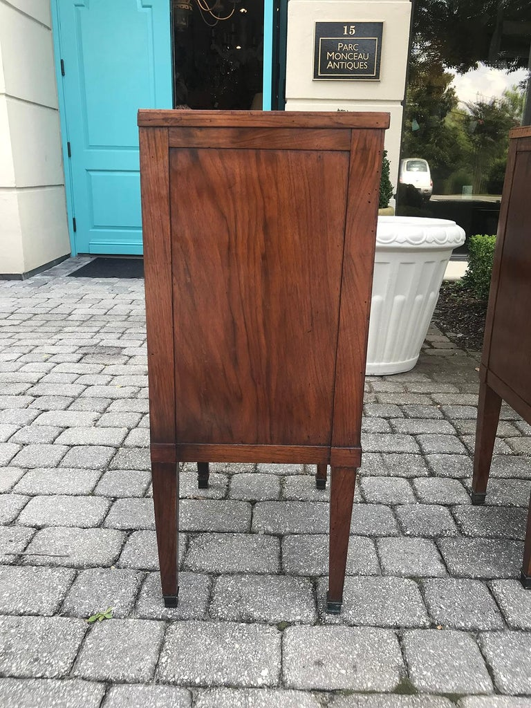Pair of Italian Neoclassical Two-Drawer Bedside Commodes with Inset ...