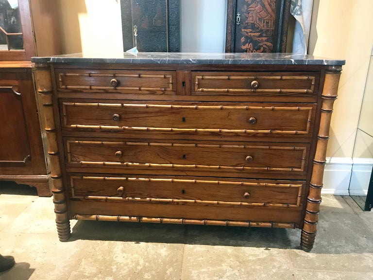 Late 19th century French bamboo chest