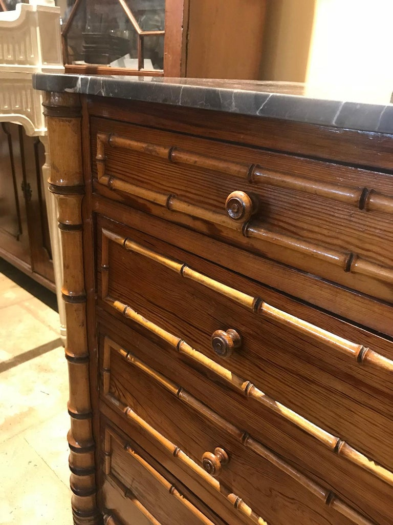 Late 19th Century French Bamboo Chest In Good Condition For Sale In Atlanta, GA