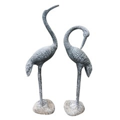 Pair of 20th Century Metal Cranes