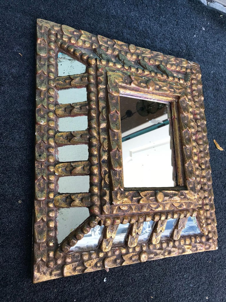 19th-20th Century Italian Giltwood Mirror For Sale 1
