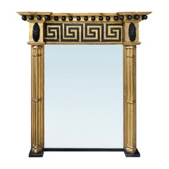 English Regency Period Greek Key Mirror, circa 1830s-1860s