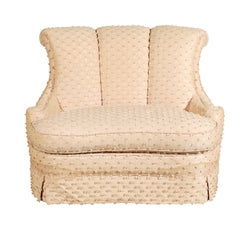 20th Century Dorothy Draper Style Oversized Slipper Chair