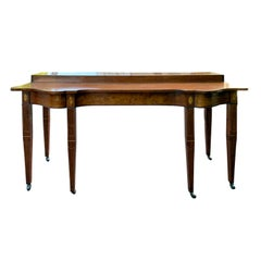 18th Century George III Shaped Mahogany Serving Table