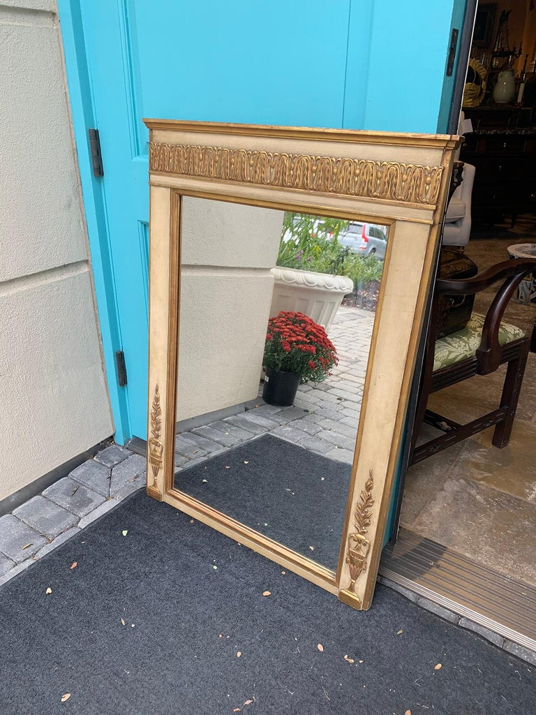 19th-20th Century French Regency Polychrome and Gilt Mirror In Good Condition For Sale In Atlanta, GA