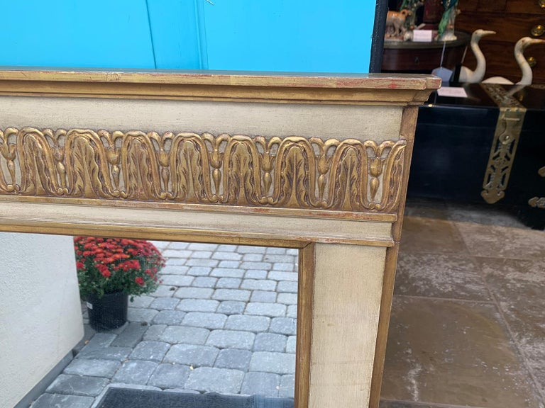 19th-20th Century French Regency Polychrome and Gilt Mirror For Sale 2