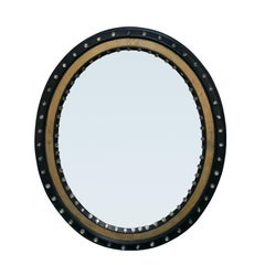 19th Century Tears of Ireland Oval Mirror