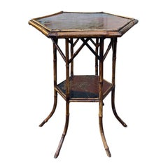 19th-20th Century Octagonal Bamboo Table