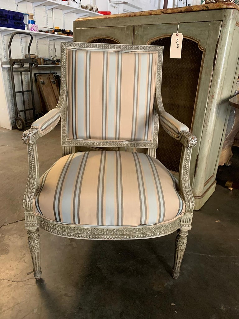 19th century French carved armchair Measures: 27