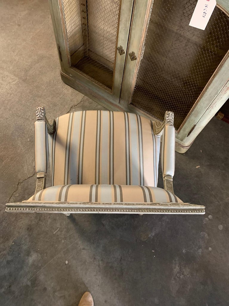 19th Century French Carved Armchair For Sale 3