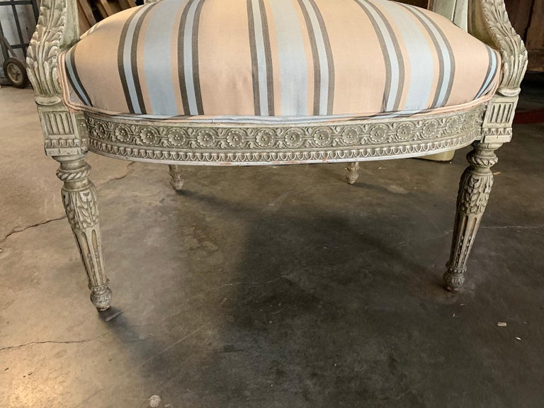 19th Century French Carved Armchair For Sale 8