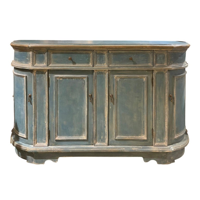 20th Century Continental Narrow Cabinet, Custom Paint For Sale