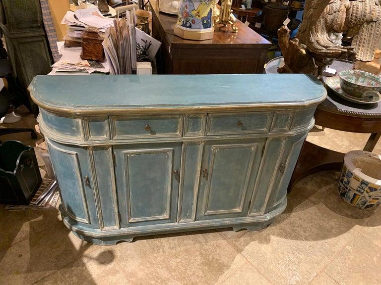 European 20th Century Continental Narrow Cabinet, Custom Paint For Sale
