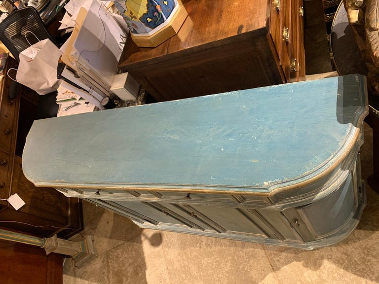20th Century Continental Narrow Cabinet, Custom Paint In Good Condition For Sale In Atlanta, GA