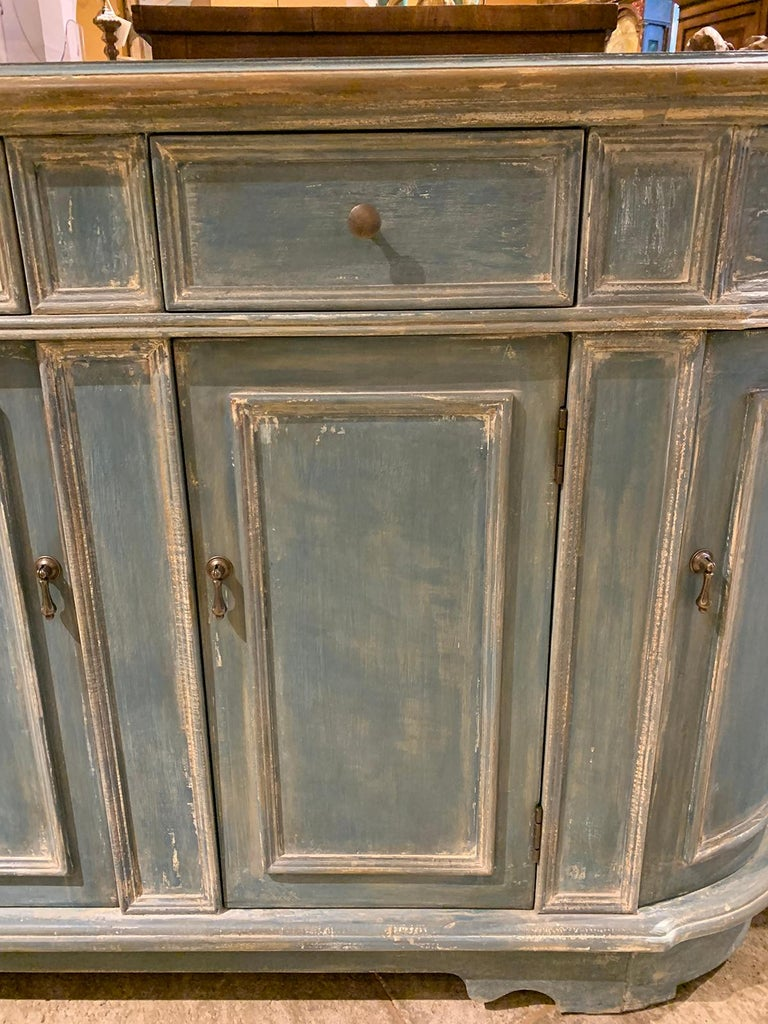 20th Century Continental Narrow Cabinet, Custom Paint For Sale 1
