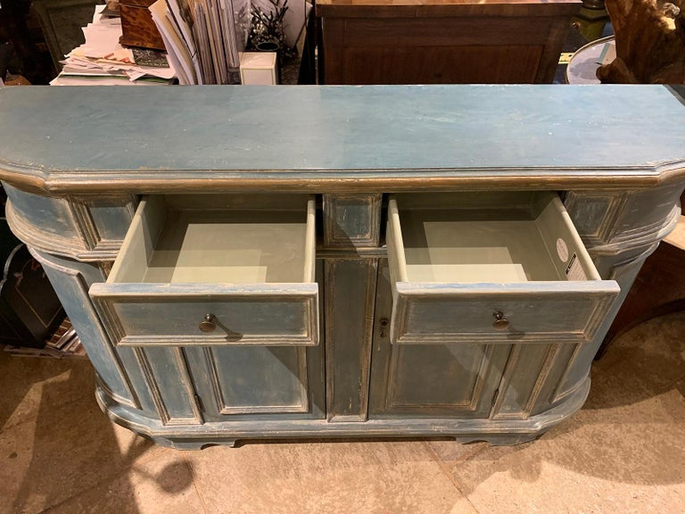 20th Century Continental Narrow Cabinet, Custom Paint For Sale 3