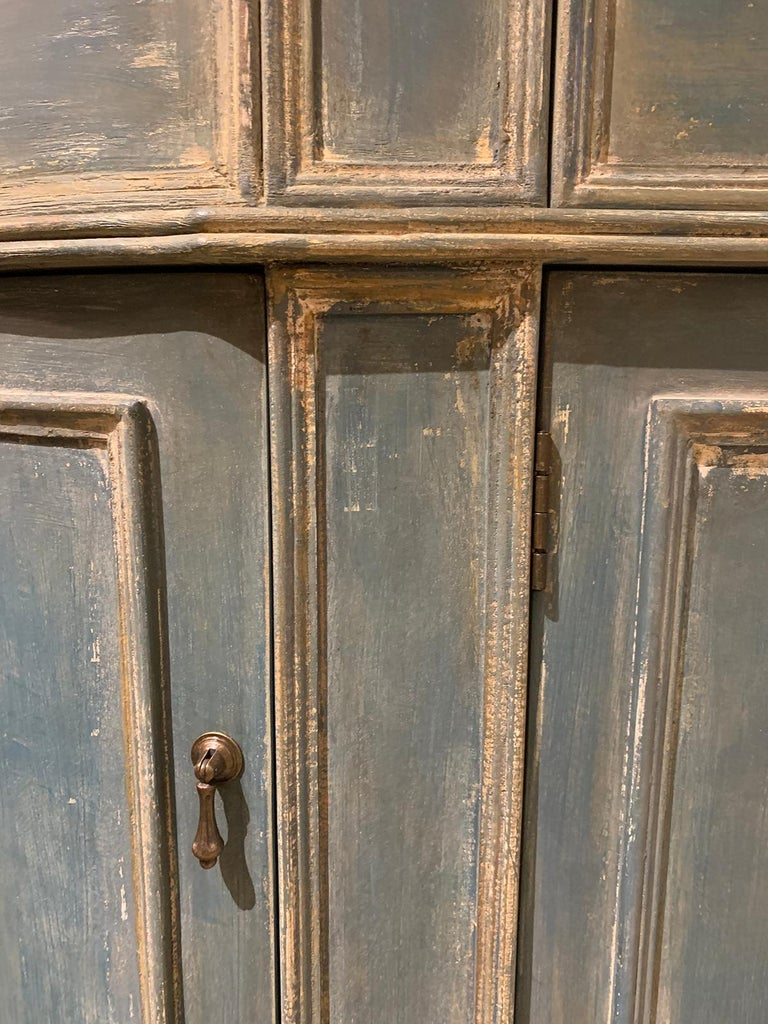 20th Century Continental Narrow Cabinet, Custom Paint For Sale 4