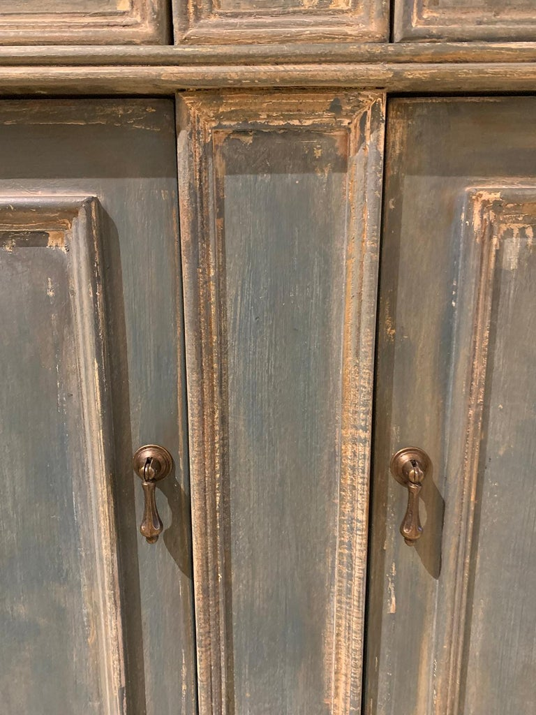 20th Century Continental Narrow Cabinet, Custom Paint For Sale 6