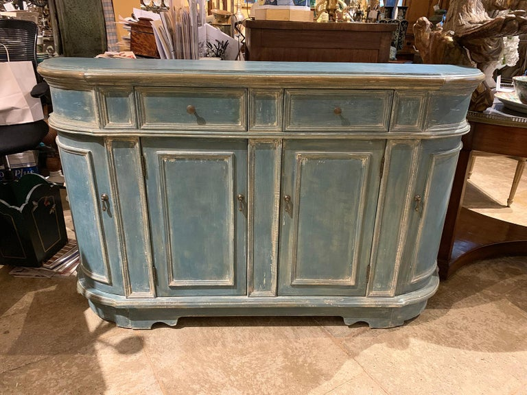 20th Century Continental Narrow Cabinet, Custom Paint For Sale 7