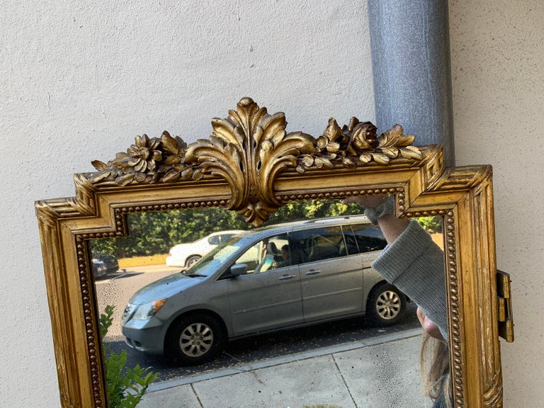 Set of 4 19th-20th Century Louis XV Style Giltwood Antiqued Mirrored Panels In Good Condition For Sale In Atlanta, GA