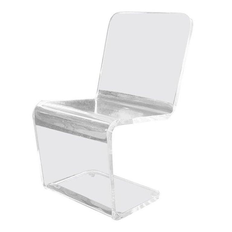 American Acrylic Zig-Zag Chair, circa 1970s