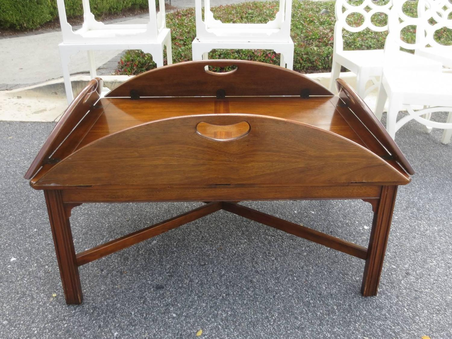 Vintage Mahogany Oversized Butler S Tray Coffee Table By