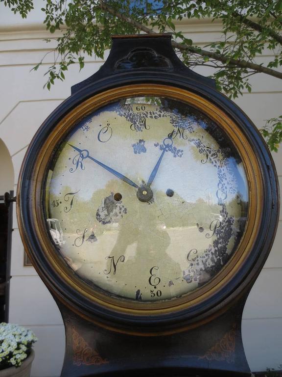 18th Century Swedish Chinoiserie Clock 6