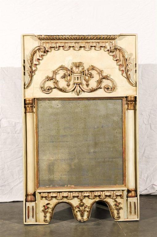 Pair of 19th century Italian mirrors, beautiful detail.