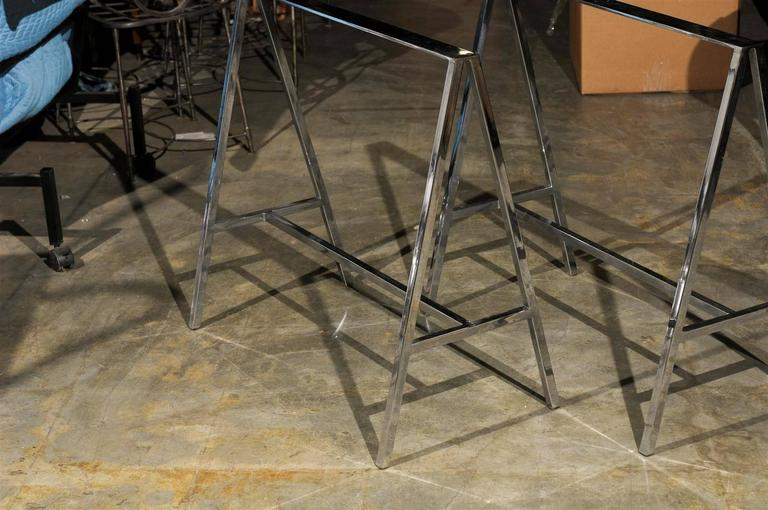 Pair of 20th Century Chrome Sawhorses 4