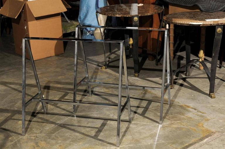 Pair of 20th Century Chrome Sawhorses 5