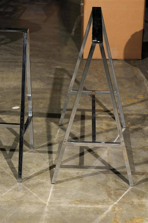 Pair of 20th Century Chrome Sawhorses 8