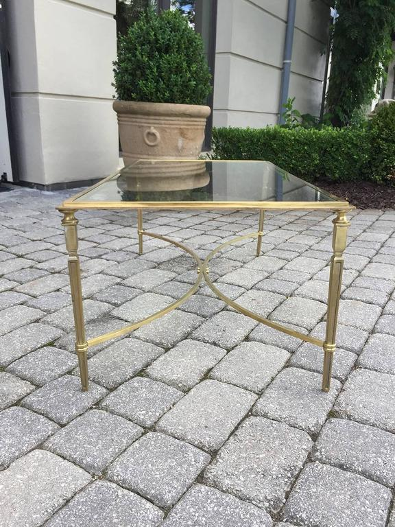 Mid-Century Brass and Glass Coffee Table in the Style of Baguès 3