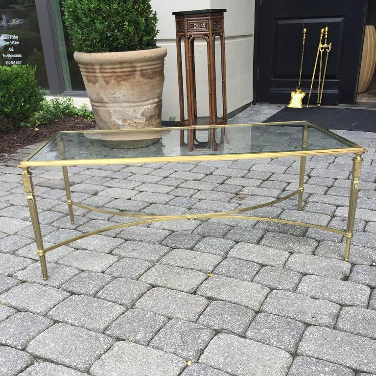 Mid-Century Brass and Glass Coffee Table in the Style of Baguès 7