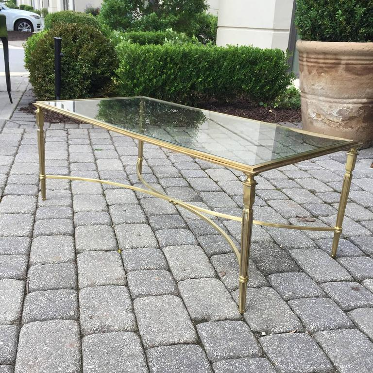 Mid-Century Brass and Glass Coffee Table in the Style of Baguès 8