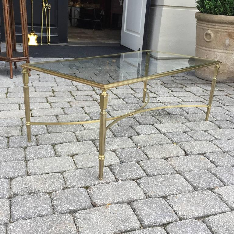 Mid-Century Brass and Glass Coffee Table in the Style of Baguès 9