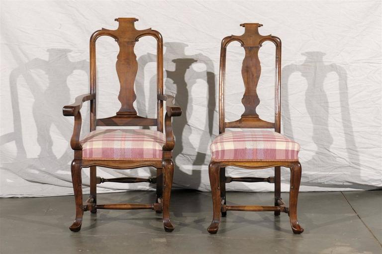 19th Century Set of Six Continental Provincial Dining Chairs.