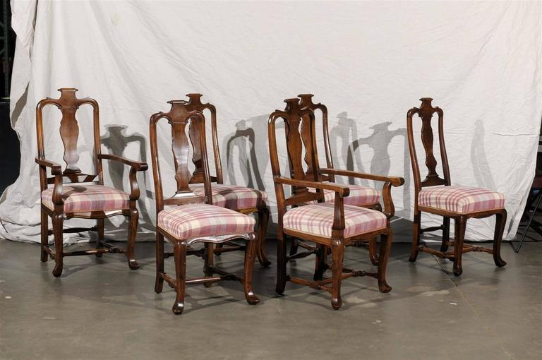 19th Century Set of Six Continental Provincial Dining Chairs In Good Condition For Sale In Atlanta, GA