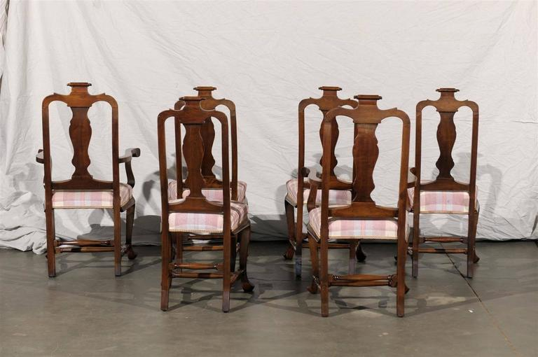 19th Century Set of Six Continental Provincial Dining Chairs For Sale 1