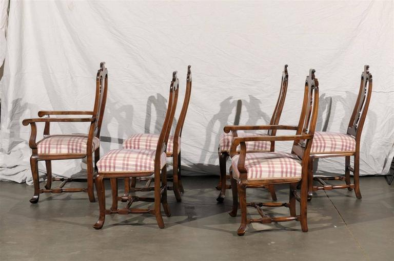 19th Century Set of Six Continental Provincial Dining Chairs For Sale 2
