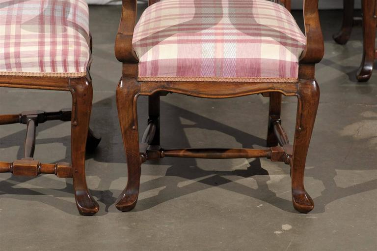 19th Century Set of Six Continental Provincial Dining Chairs For Sale 3