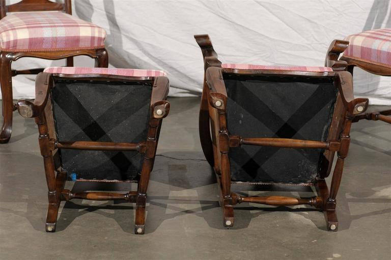 19th Century Set of Six Continental Provincial Dining Chairs For Sale 4